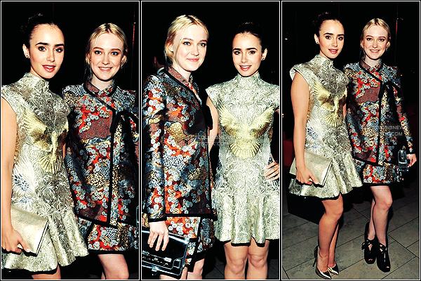 *   04/06/2012 - C'est une Lily scintillante qui c'est pr�sent� au  CFDA Fashion Awards 2012 � New-York Des photos de son arriv�, de l'�v�nement et de la soir�e sont disponible.  *