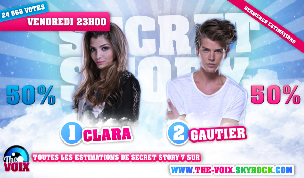ESTIMATIONS DES DIXIEMES NOMINATIONS: CLARA/GAUTIER