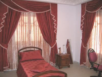 La chambre de la fille lit coin salon rideaux - Rideaux pour chambre fille ...
