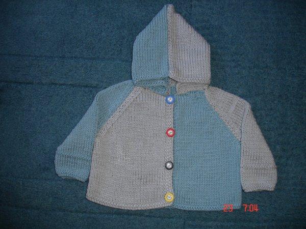 Palet�t en gris et bleu en 3-6 mois