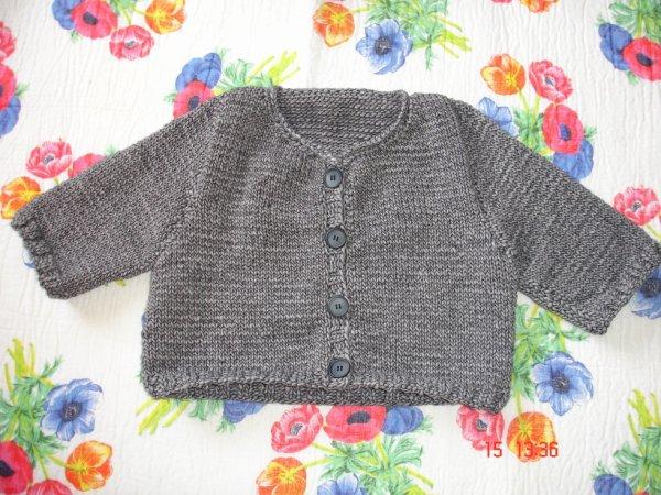 """gilet tricoter pour une de mes petites filles """"Camille"""""""