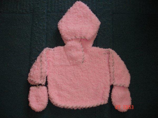 pull � capuche en laine toute douce.