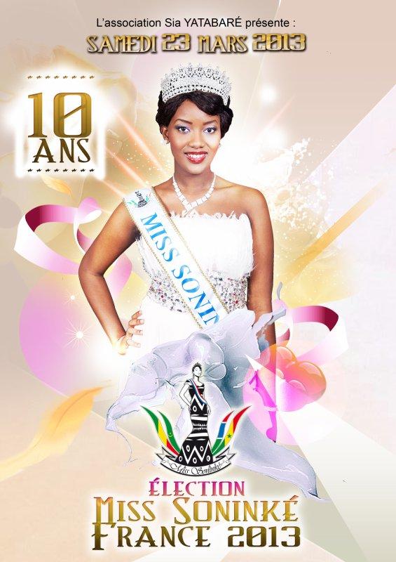 Samedi 23 Mars 2013, Election miss sonink� france 2013 soit 10 ans
