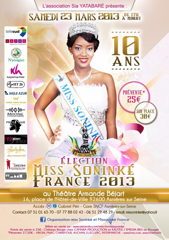 samedi 23 mars, �lection miss sonink� france 2013
