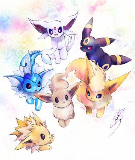 Les bebe evolution d 39 evoli fans de pokemon - Pokemon famille d evoli ...