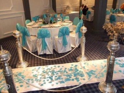 Deco de salle n1 blanc bleu turquoise blog de orienreine for Deco bleu turquoise et blanc