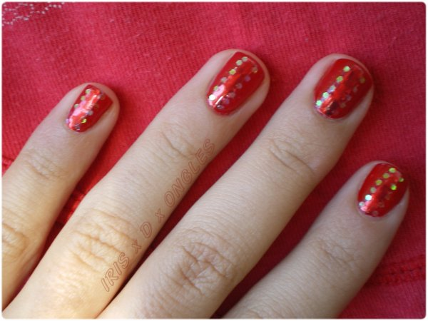 Photos bild galeria nail art french rouge - French manucure rouge ...