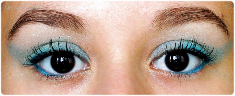 maquillage du jour turquoise comme un lagon d iris. Black Bedroom Furniture Sets. Home Design Ideas