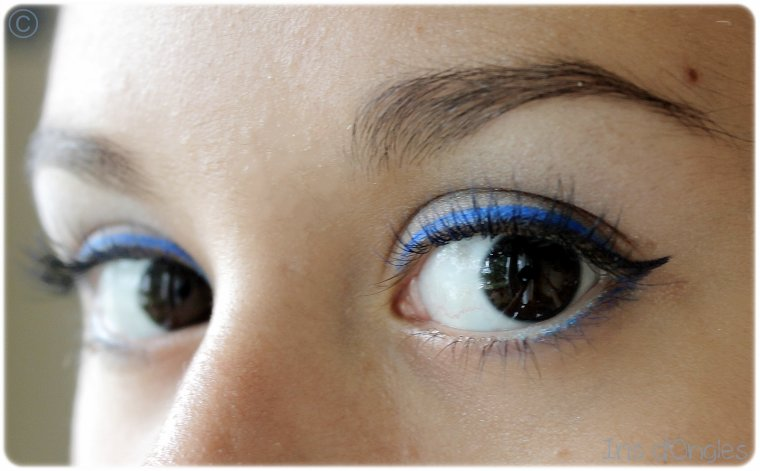 maquillage du jour bleu fabuleux iris au pays des licornes. Black Bedroom Furniture Sets. Home Design Ideas