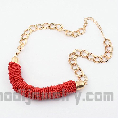 Hand beaded fashion necklace jewelry cheap fashion jewelry store online trend