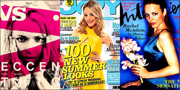 . (Re)d�couvrez quelques magazines dont Rachel McAdams a fait la couverture !