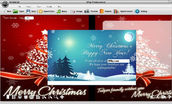 How to create online corporate christmas cards best page flip maker import an image on the front of the card as its cover its also wise to add an image like the logo or a group photo of key employees that should m4hsunfo