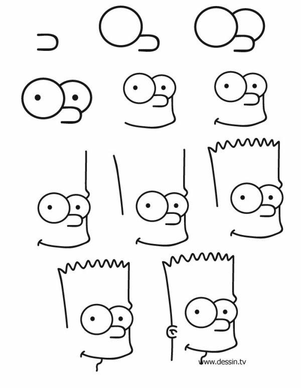 apprendre a dessiner bart simpson