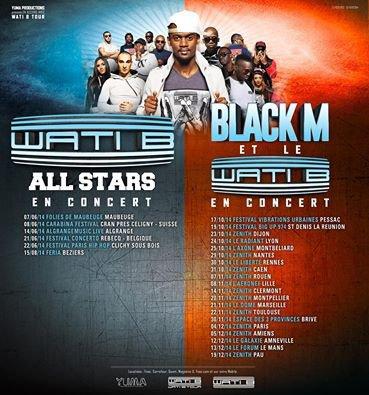 Tourn�e de BLACK M en 2014!!! :)