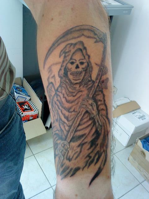 Faucheuse eric tattoo - Tatouage la faucheuse ...