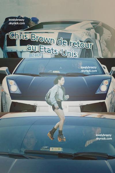 Chris Brown est de retour au Etats-Unis