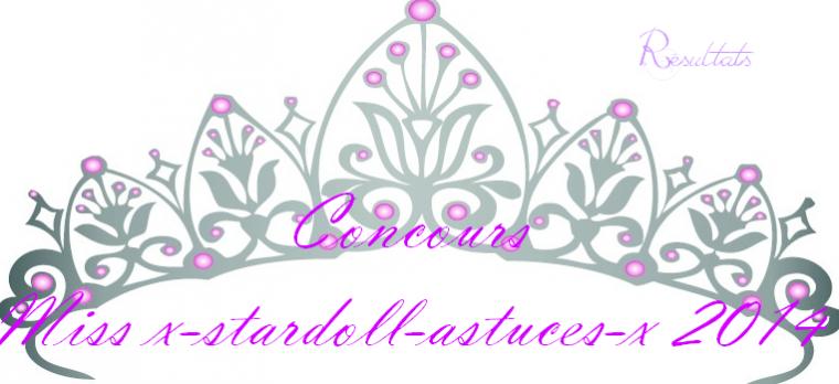 R�sultats du grand coucours Miss x-stardoll-astuces-x 2014 !!!!