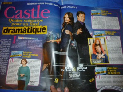 castle en couverture du magazine t�l�star