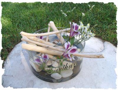 Bois flott s coquillages art floral bouquet for Bouquet bois flotte