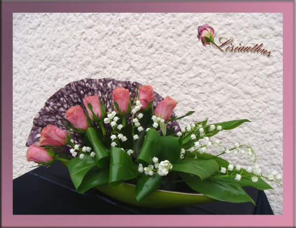 Eventail de muguet art floral bouquet cr ations for Lisianthus art floral