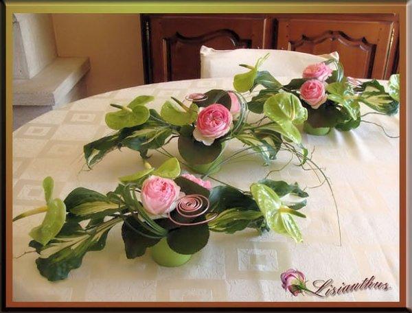 Bapt me d 39 ana art floral bouquet cr ations florales de - Art floral centre de table noel ...