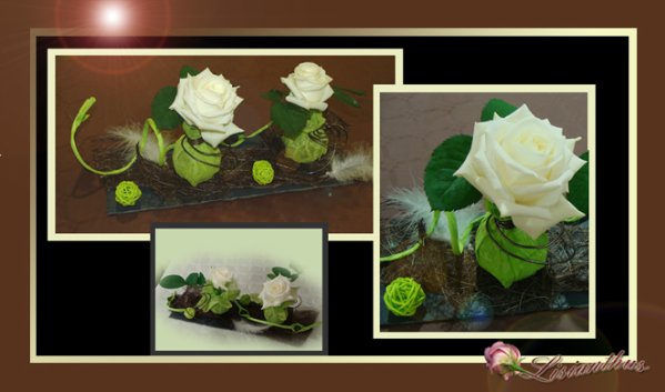 Cr ation de table pistache chocolat art floral for Set de table en ardoise