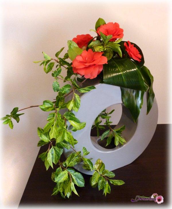Cam lias art floral bouquet cr ations florales de for Lisianthus art floral
