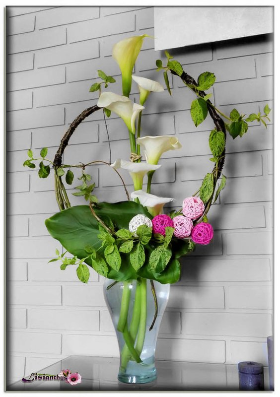 Arums Art Floral Bouquet Cr Ations Florales De