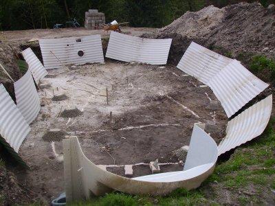 vrai d but du montage de la piscine waterair blog de leikieto. Black Bedroom Furniture Sets. Home Design Ideas