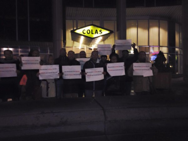 Manif contre COLAS à Paris