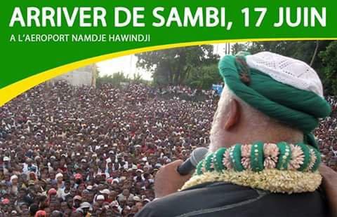 SAMBI est attendu le 17 juin à l'aéroport PRINCE SAID IBAHIM DE Hahaya