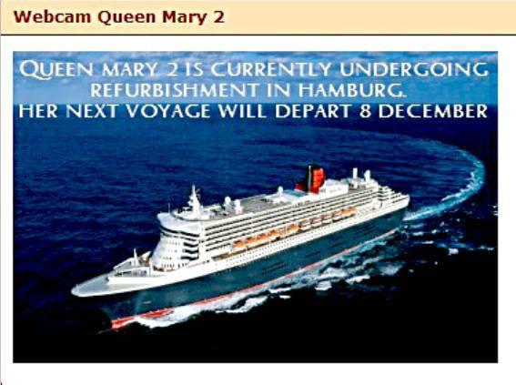 Le paquebot QUEEN MARY 2  est en car�nage � Hamburg