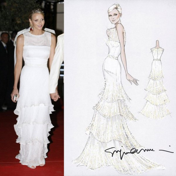 The wedding dress charlene wittstock princess of for Giorgio armani wedding dress