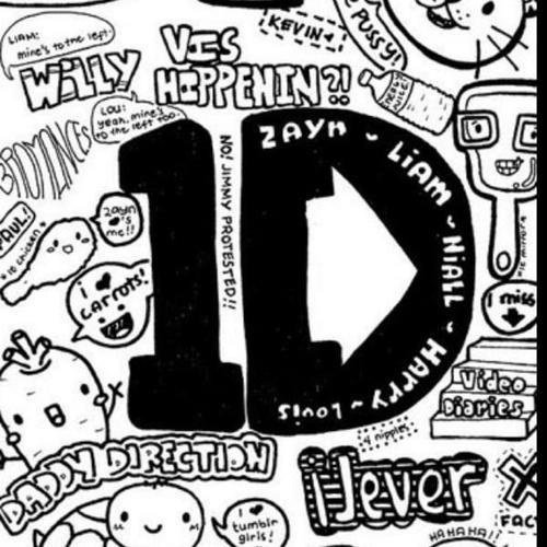 One Direction Logo Black And White Wallpaper Download