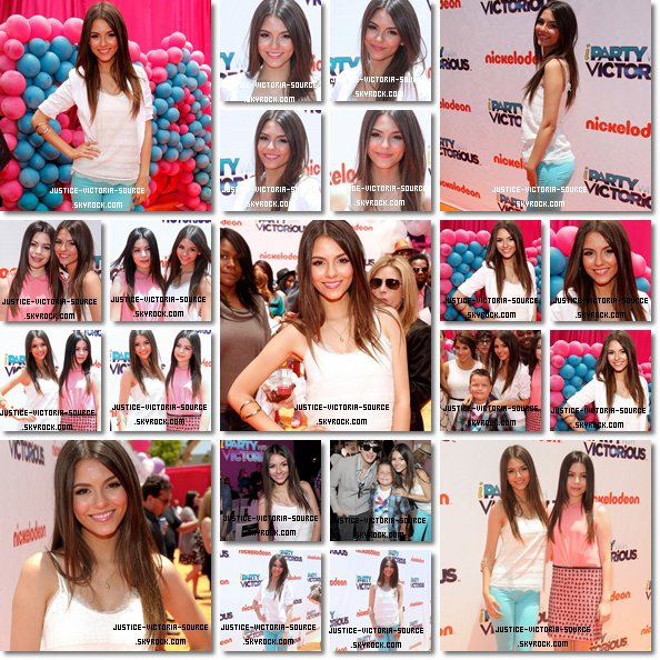 05 / 06 / 2011 – Victoria et le cast de Victorious – iCarly sur le red carpet pour la premiere de iParty with Victorious � Los Angeles.