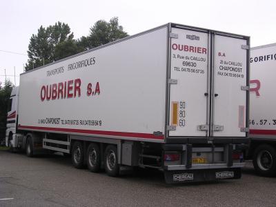 Semi remorque chereau transport oubrier - Transporter un frigo couche ...