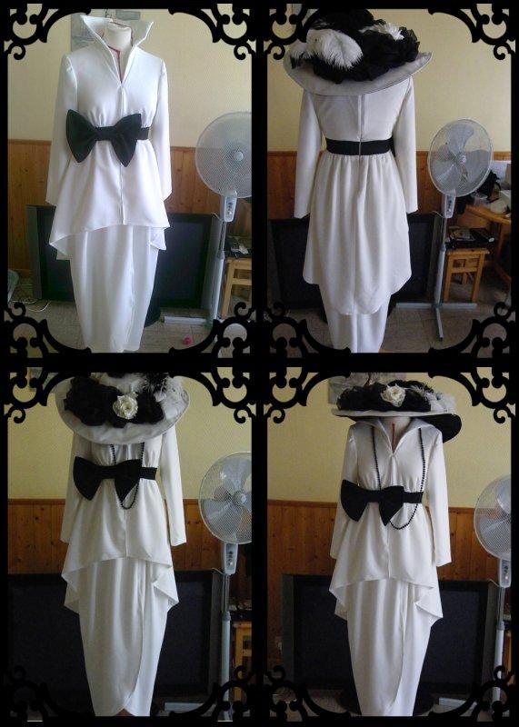 costume 1910 noir et blanc blog de etoilesettoiles. Black Bedroom Furniture Sets. Home Design Ideas