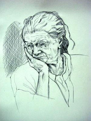 Portrait de ma grand m re dessins peintures illustrations - Dessin grand mere ...