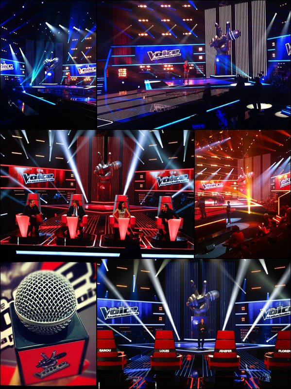 PLATEAU DE L' EMISSION THE VOICE - TF1