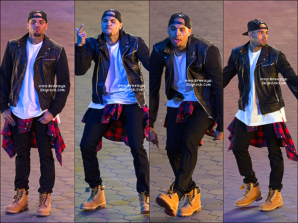 ". 24.02.2014 : Chris a �t� rep�rer sur le tournage de ""Loyal"" a City Walk sur Hollywood. ."