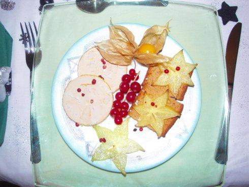 assiettes de foie gras de cricricuisine