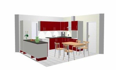 Une id e de l 39 agencement de la cuisine ouverte sur le for Agencement sejour cuisine