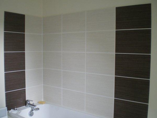 Salle de bain maison de mick et rebecca - Salle de bain peinture ou faience ...