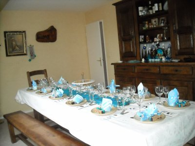 Ma d co de table du reveillon de noel la f e clochette for Decoration de table bleu