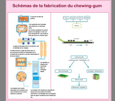 Fabrication du chewing gum