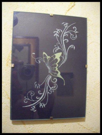 gravure sur verre timing et tatouage. Black Bedroom Furniture Sets. Home Design Ideas