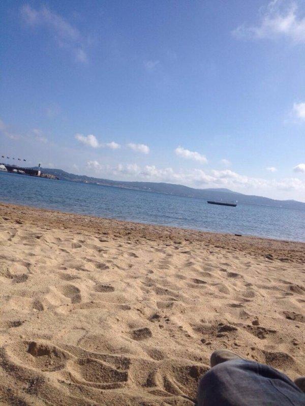 Romano au calme � la plage ;)