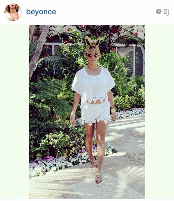 Beyonce reste class m�me en mode P�ques