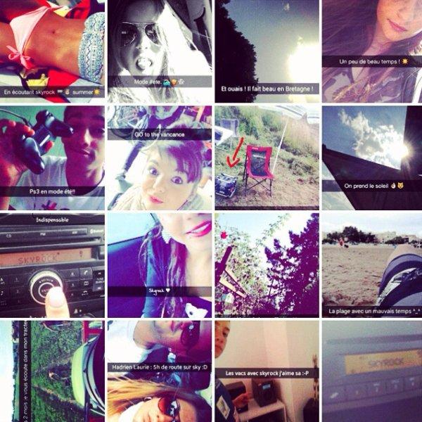 Les vacances des auditeurs du 16-20 sur snapchat