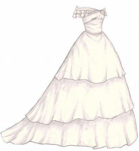 Comment dessiner une robe for Comment faire la robe de mariage cupcake